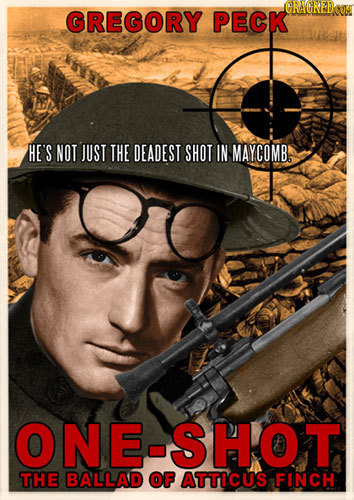 GRAGED GREGORY PECK HE'S NOT JUST THE DEADEST SHOT IN MAYCOMB ONE-SHOT THE BALLAD OF ATTICUS FINCH