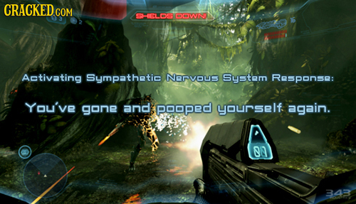 CRACKEDCO COM SHIELOS DOWND Activating Sympathetic NRVOUS Syetem ReSPonse: You've gone and poopeD yourself again. on 343
