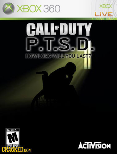 XBOX 360 XBOX LIVE CALLOFDUTY OF PT.S.D. HOW LONG WILL YOU LAST? MATURE 174 M ACTIVISION DEDE