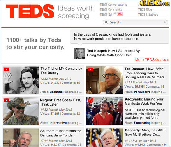CRACKEDON TEDS TEDS Conversations ldeas worth TEDS Community TEDS Blog spreading TEDS-Ed d NENU TEDS Initiatives Search In the days of Caesar, kings h
