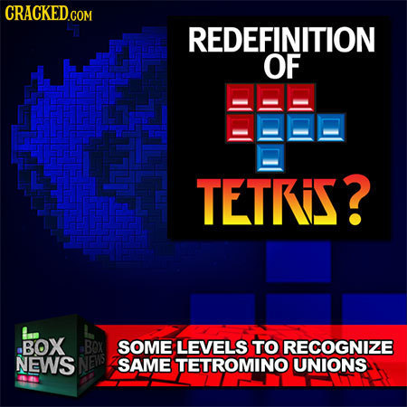 REDEFINITION OF TETRS? an BOX BOX SOME LEVELS TO RECOGNIZE NEWS NEWS SAME TETROMINO UNIONS
