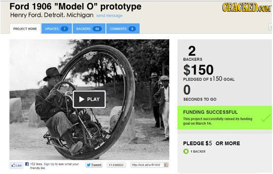 22 Kickstarter Campaigns From Throughout History