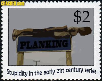 $2 PLANKING Stupidity early 21st century series in the