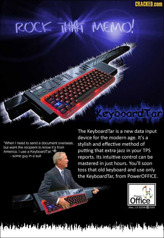 CRACKED.cOM ROCK THH MEMO! --hl KeyooardTar The KeyboardTar is a new data input device for the modern age. It's a When I need to send a document overs