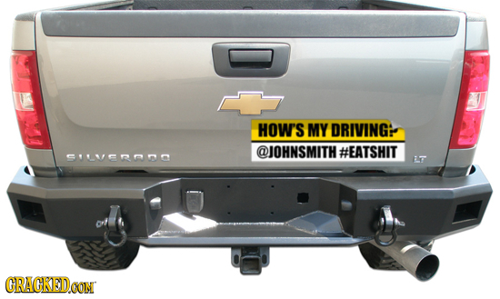 HOW'S MY DRIVING @JOHNSMITH #EATSHIT PILUOno E CRACKEDCON