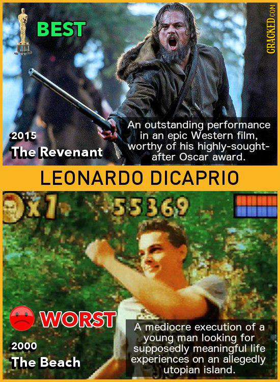 BEST CRACKED CO An outstanding performance 2015 in an epic Western film, The worthy of his highly-sought- Revenant after Oscar award. LEONARDO DICAPRI