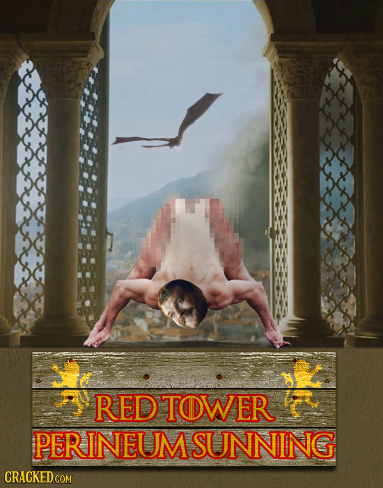 RED TOWER PERINEUMSUNNING CRACKED