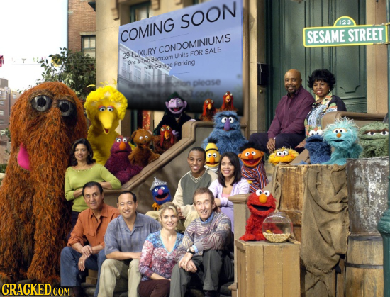 SOON 123 COMING SESAME STREET CONDOMINIUMS SALE 29LUXURY Uhits FOR One AnoBetoom tGanage Porking please B CRACKED COM