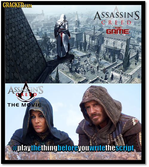 CRACKEDOOM ASSASSIN'S CREED TE GAME SSASSIN'S OREED THE MOVIE #playthethingbeforeyouwritethescripl