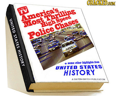 CRAGKED TV America's Yhrilling UNITED Speed Most High Chases STATES Police HISTORY other hctichts frers so6 UNITED STATES HISTORY A BAITEN-SWITCH PUDL