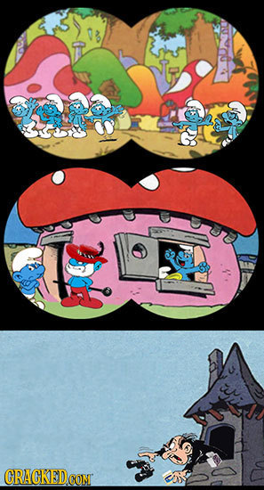 27 Dark Sides of Cartoon Universes You Never Got to See