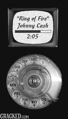 Ring of Fire Johnny Cash 2:05 ABC DEF 2 1 3 GHI JKL 5 MN 6 PRS 7 TUV 00 WXY 8 O 9