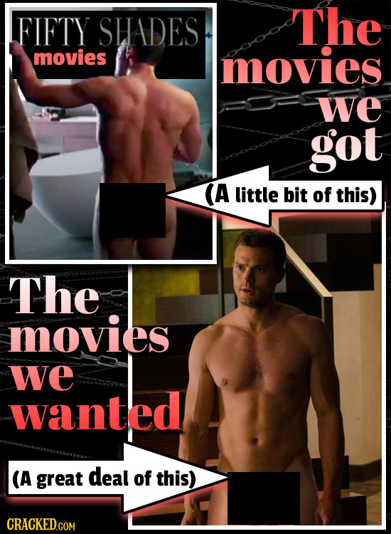 FIFTY SHADES The movies movies we got A little bit of this) The movies we wanted (A great deal of this) CRACKED.COM