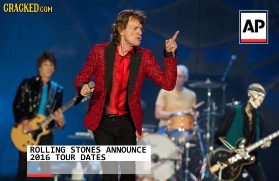 CRACKED.COM AP ROLLING STONES ANNOUNCE 2016 TOUR DATES
