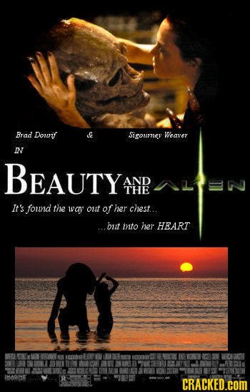 Brad Dourif Sigoumey Weaver IN BEAUTY AND THE It's found the wvav out of her chest.. ...but into her HEART IBORIDE CRACKED.cOM
