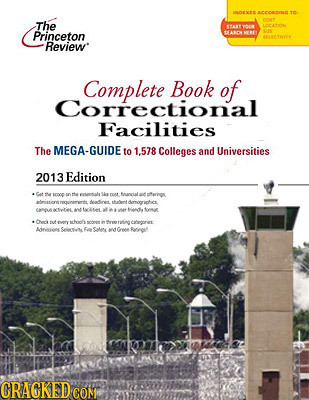 ANAYEAAOANHATO The c ar Princeton AMO - SC RLCENITY Review Book of Correctional Facilities The MEGA-GUIDE to 1.578 Colleges and Universities 2013 Edit