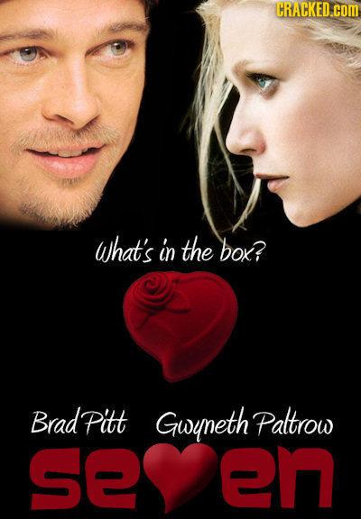 CRACKED.C What's in the bok? Brad Pitt Gwuneth Paltrow en e