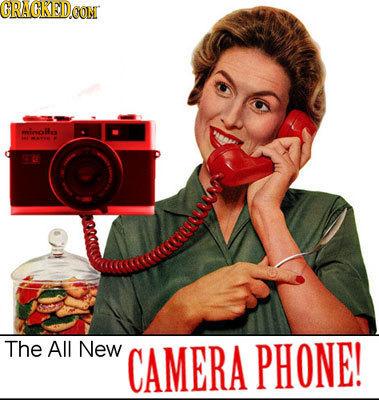 CRACREDCON minollo MAT The All New CAMERA PHONE!