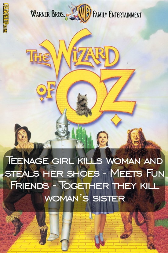 CRACKEDCON WARNER Bros. FAMILY ENTERTAINMENT WZND THE Z TEENAGE GIRL KILLS WOMAN AND STEALS HER SHOES - MEETS FUN FRIENDS TOGETHER THEY KILL WOMAN'S S