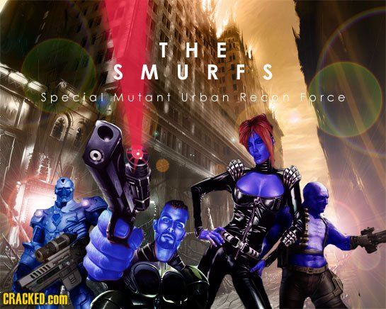 THE SMURFS Special Mutant U r b an Recon Force 3 CRACKED.cOM