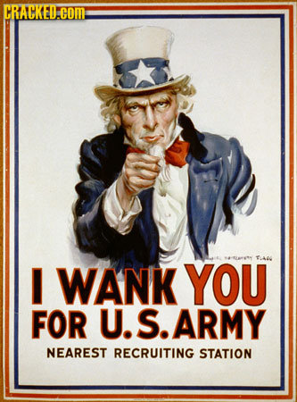 CRACKED.COM TANL I WANK YOU FOR U. S. ARMY NEAREST RECRUITING STATION