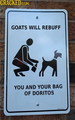 CRACKED GOM GOATS WILL REBUFF YOU AND YOUR BAG OF DORITOS