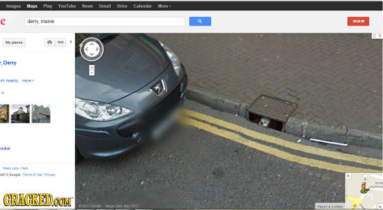 19 Famous Characters Captured on Google Street View