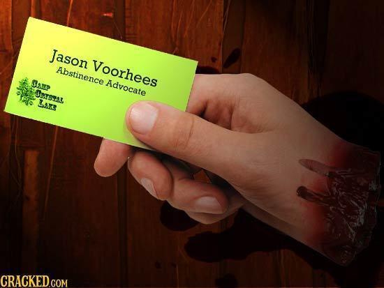 Jason Voorhees Abstinence Samp Advocate ORsea Lars