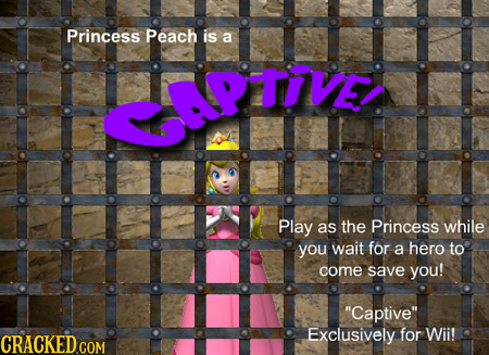 Princess Peach is a APTIVE Play as the Princess while you wait for a hero to come save you! Captive Exclusively for Wii!