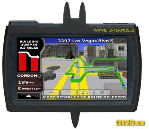 WAYNE ENTERPRISES 3397 BUILDING Las Vegas Blvd S UMD IN 0.2 MILES 2D EMACOAVE GORDON 199 mph 2 BOOSTS LEY 2 MOST DESTRUCTIVE ROUTE SELECTED CRACKED.HO