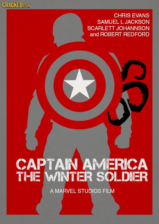CHRIS EVANS SAMUEL LJACKSON SCARLETT JOHANNSON and ROBERT REDFORD CAPTAIN AMERICA THE WINTER SOLDIER A MARVEL STUDIOS FILM