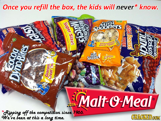 Once you refill the box, the kids will never know. Mateys srrwhe Mashmmat super Chocou SpoOnERS Size! unch BOUS! PAY oossa Clossa C Cinnumon, CARreMte