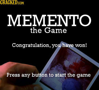 EMENTO the Game Congratulation, you have won! Press any button to start the game