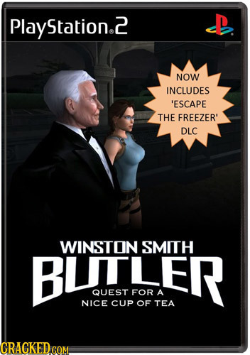 Play Station.2 NOW INCLUDES 'ESCAPE THE FREEZER' DLC WINSTON SMITH BLITLER QUEST FOR A NICE CUP OF TEA CRACKED COM.