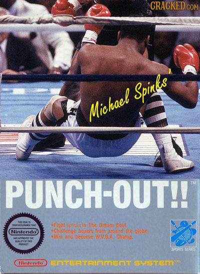 CRACKEDG COM Spinlkts Michael PUNCH-OUT!! TA ALSUANCETAY Fignt Sptis h The Drsam Bout Nintendo *Chellenge boxers fom around the giobe Win and become w
