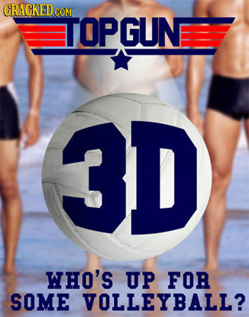 CRACKED COM TOPGUN 3D WHO'S UP FOR SOME VOLLEYBALL?