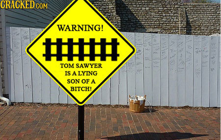 CRACKED COM WARNING! #HHH TOM SAWYER IS ALYING SON OF A BITCH!