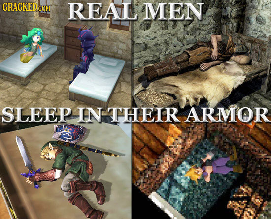 CRACKED co COM REAL MEN SLEEP IIN THEIR ARMOR