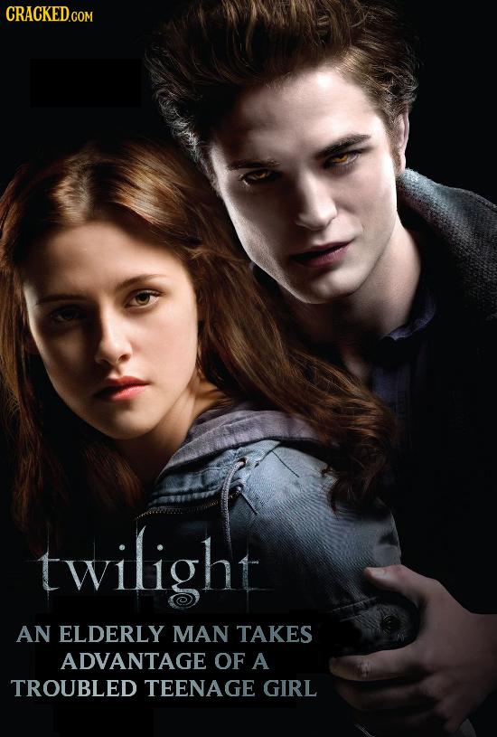 CRACKED.COM twilight AN ELDERLY MAN TAKES ADVANTAGE OF A TROUBLED TEENAGE GIRL