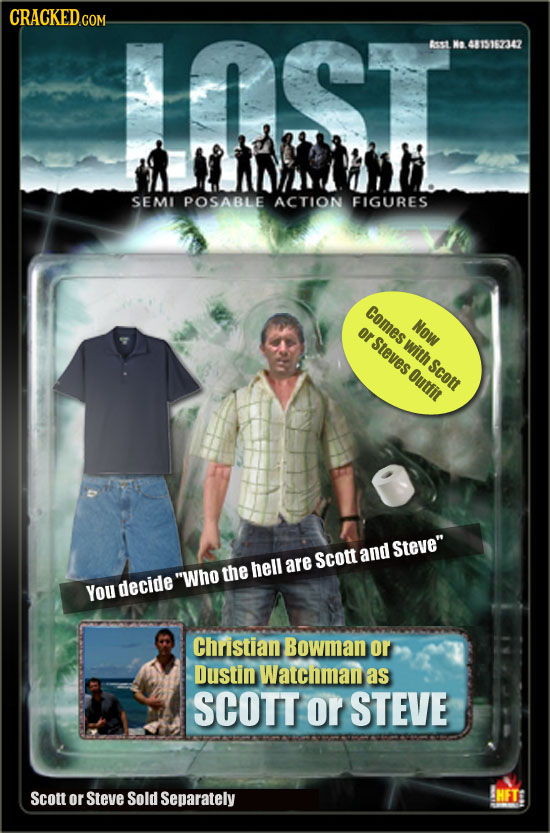 AST Aesst Na 4815162342 SEMI POSABLE ACTION FIGURES tomes Now or Steves with Scou Outfit Steve Scott and the hell are Who YoU decide Christian Bowma