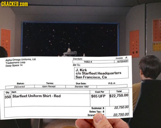 The Questionable Expenses of Famous Fictional Characters