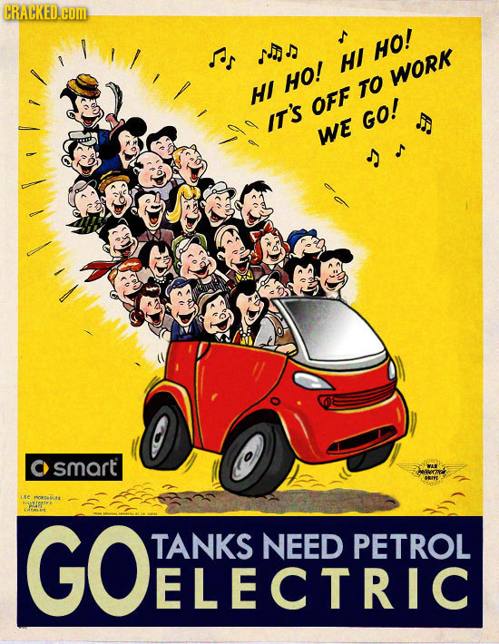 CRACKED.com as NON ul HO! HO! WORK HI TO OFF IT'S GO! S WE smart LIe MATAofs AATATID CACALE GOENLKENCEDRRTRO TANKS NEED PETROL ELECTRIC