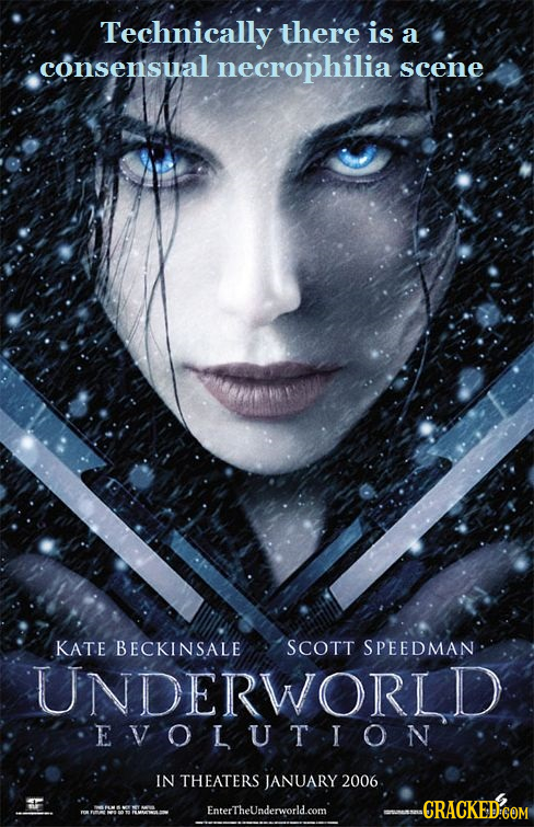 Technically there is a consensual necrophilia scene KATE BECKINSALE SCOTT SPEEDMAN UNDERWORLD EVOLUTION IN THEATERS JANUARY 2006 EnterTheUnderworld.co