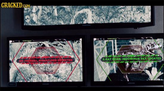 CRACKED.COM X-RAY SCAN: INDOMINUS REX LOCATED RMAL, RMAL UR TeTD NO