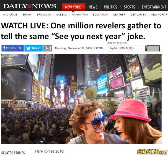 DAILY NEWS NEW YORK NEWS POLITICS SPORTS ENTERTAINMENT NYC CRIME BRONX BROOKLYN QUEENS MANHATTAN EDUCATION WEATHER OBITUARIES NEWYORK WATCH LIVE: One