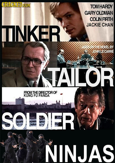 CRAGKEDCOM TOMHARDY GARY OLDMAN COLINFIRTH TINKER JACKIE CHAN NOOINOVELBY OANLECARR TALOR FROM THEDIRECTOROF KUNG FU PANDA SOLDIER NINJAS
