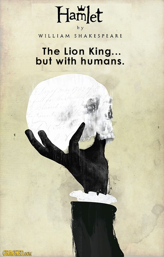 Hamlet by WILLIAM SHAKESPEARE The Lion King... but with humans. thou GRACKEDOON