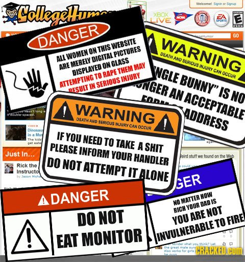 If Websites Came With Warning Labels