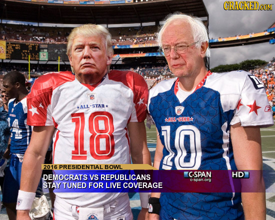 CRACKED COMT 18 +ALL-STAR* 10 LSRr 2016 SPRESIDENTIAL BOWL DEMOCRATS VS REPUBLICANS CSPAN HD c-span.org STAY TUNED FOR LIVE COVERAGE