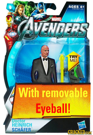 AGES 4+ 33482/30471 A4 CAVENERS MARVEL VENDERS THE TRY ME! With removable Eyeball! Doctor HEINRICH Hhngsbng SCHAFER CRACKED